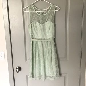 Forever 21 mint lace dress